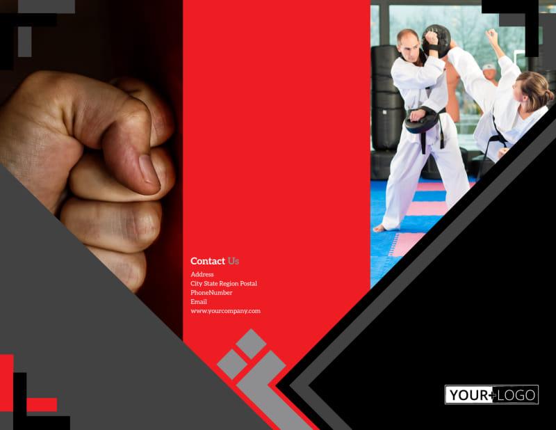 Martial Arts Studio Brochure Template Preview 2
