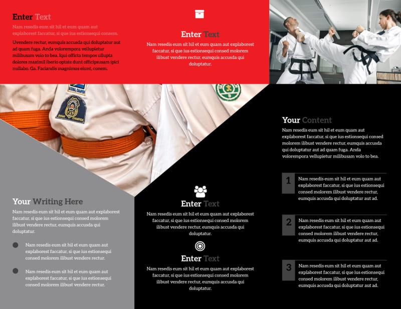 Martial Arts Studio Brochure Template Preview 3