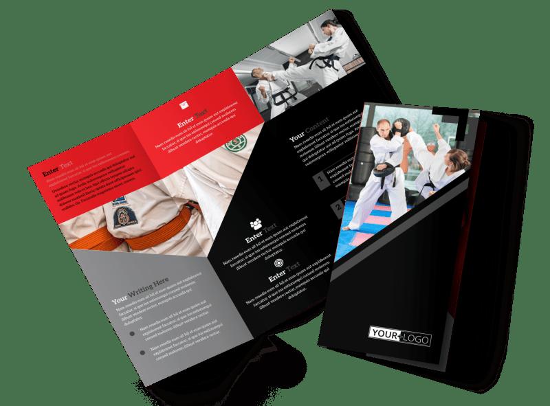 Martial Arts Studio Brochure Template Preview 1
