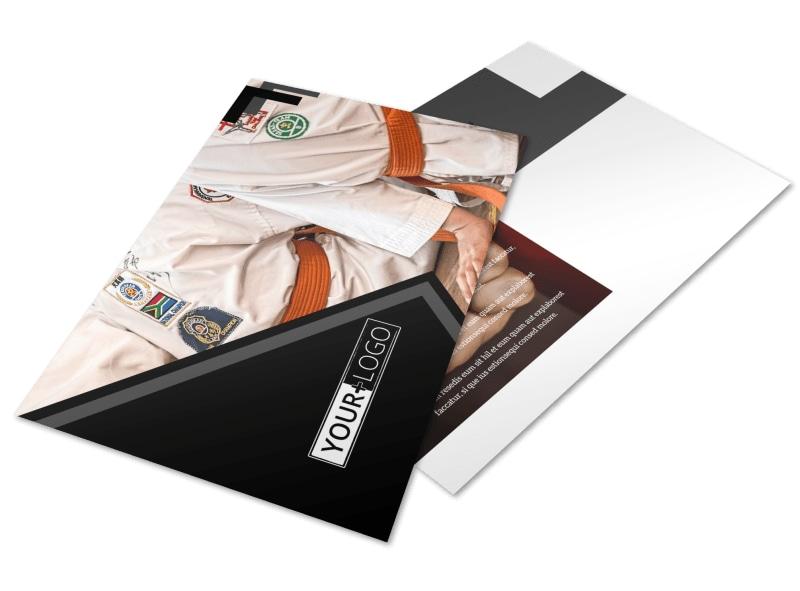 Martial Arts Studio Postcard Template