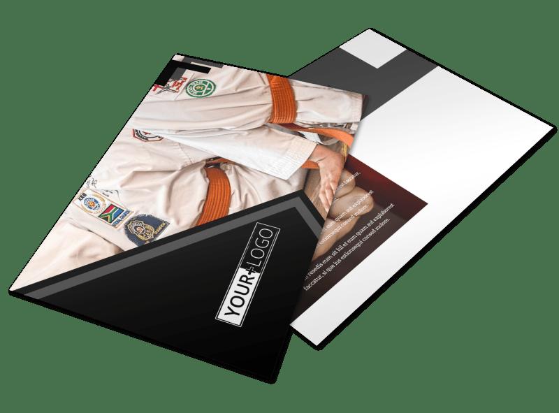Martial Arts Studio Postcard Template Preview 1