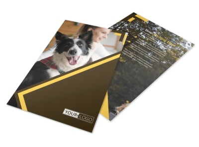 Dog Training Flyer Template 3