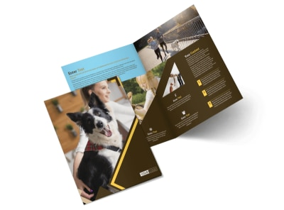 Dog Training Bi-Fold Brochure Template 2