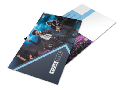 Pop Music Concert Postcard Template 2