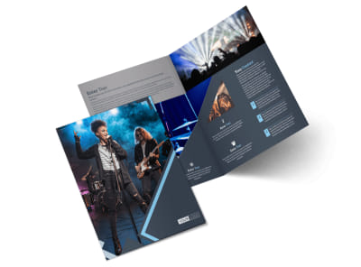 Pop Music Concert Bi-Fold Brochure Template 2