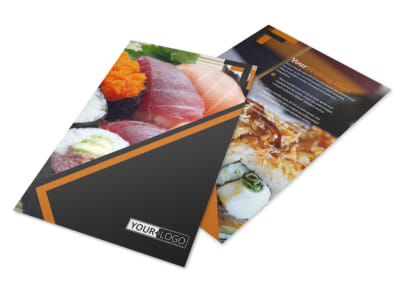 Outstanding Sushi Restaurant Flyer Template 3