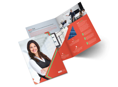 Marketing Conference Bi-Fold Brochure Template 2