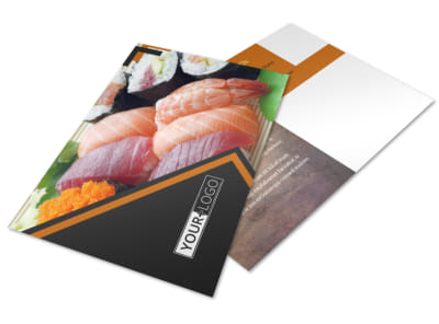 Outstanding Sushi Restaurant Postcard Template 2 preview