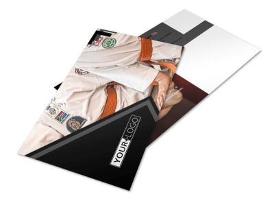 Martial Arts Studio Postcard Template 2