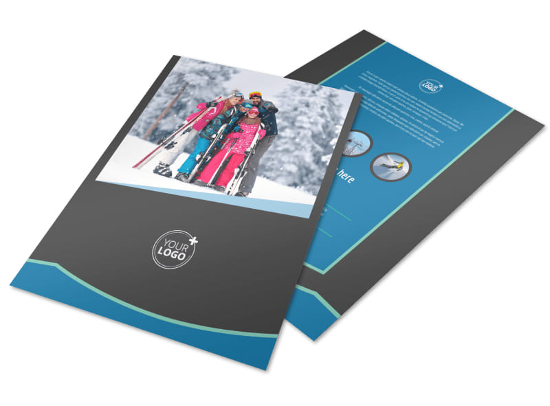 Ski Resort Flyer Template  Mycreativeshop