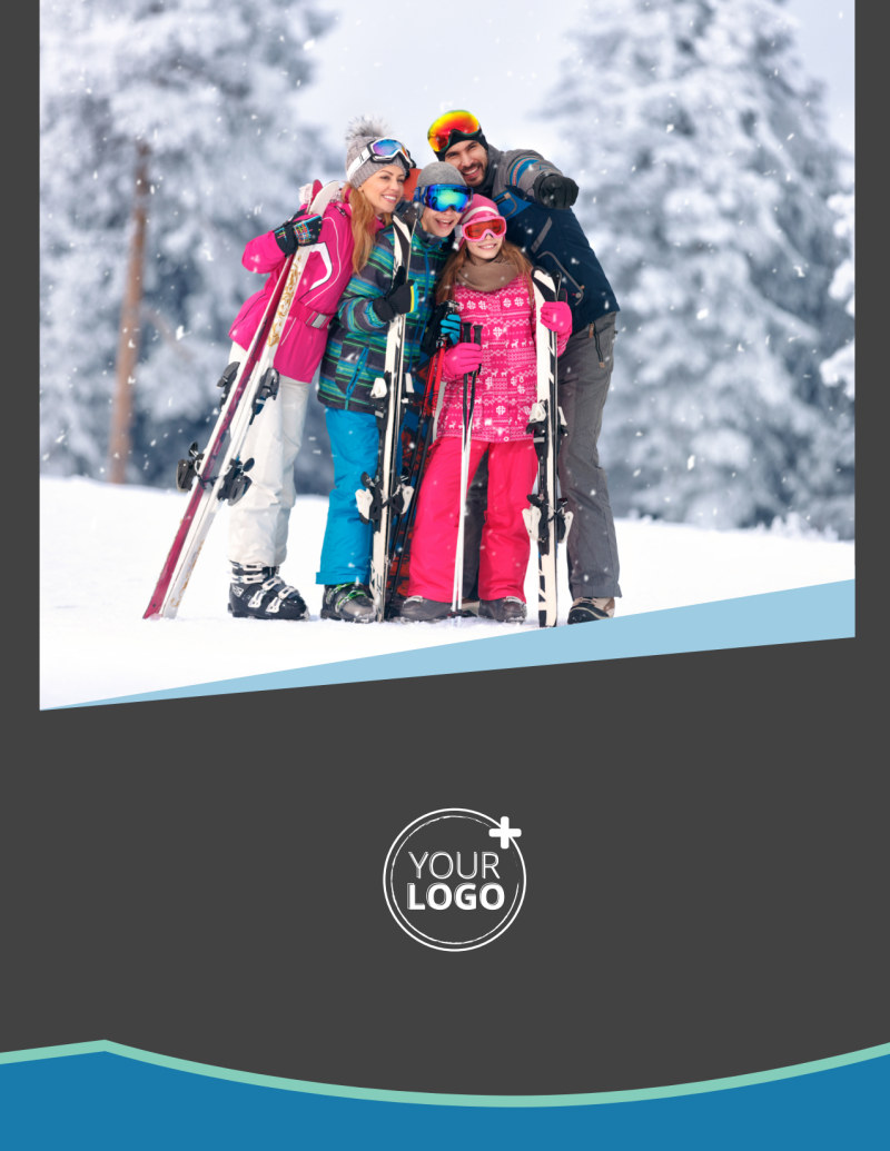 Ski Resort Flyer Template Preview 2