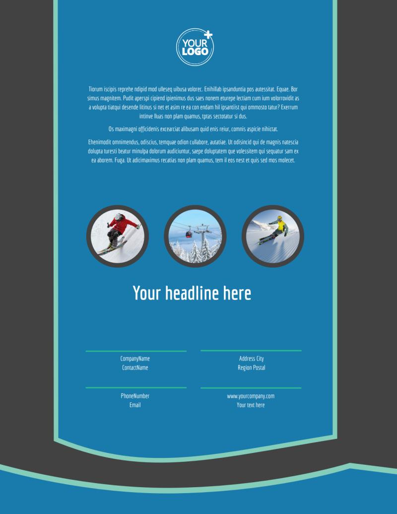 Ski Resort Flyer Template Preview 3