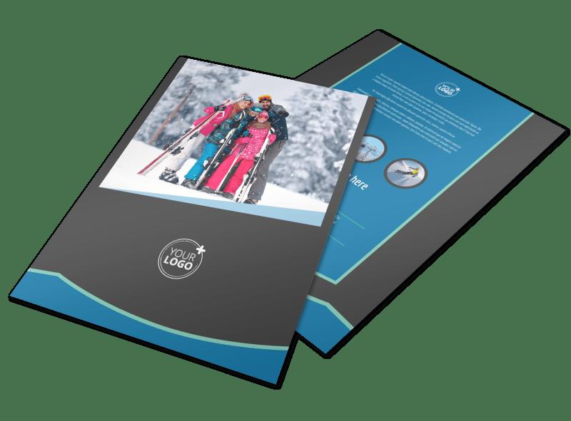 Ski Resort Flyer Template Preview 1