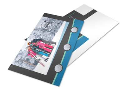 Ski Resort Postcard Template 2
