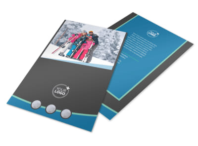 Ski Resort Flyer Template 3