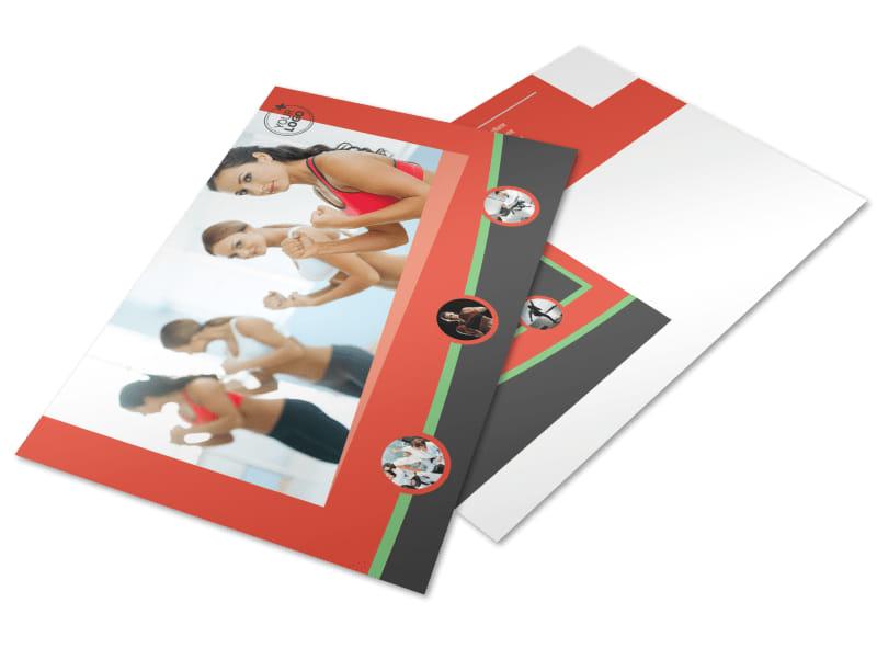 Self Defense Class Postcard Template