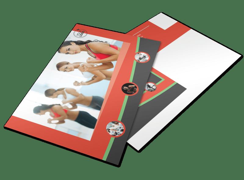 Self Defense Class Postcard Template Preview 1