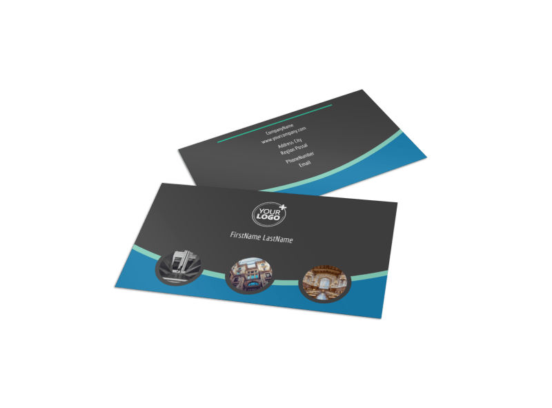 Architecture & Design Firm Business Card Template Preview 1