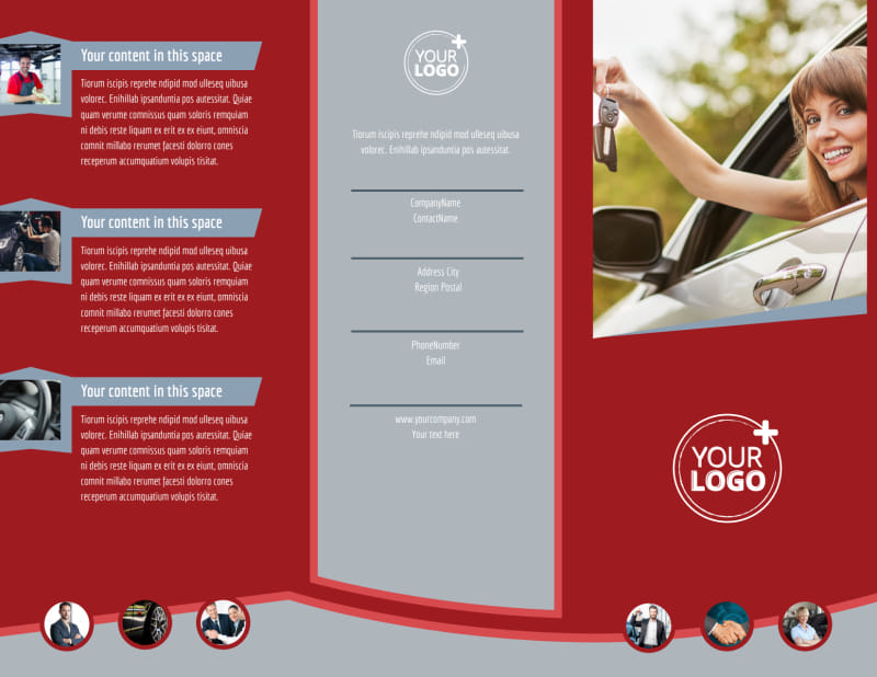 Used Car Dealer Brochure Template Preview 2