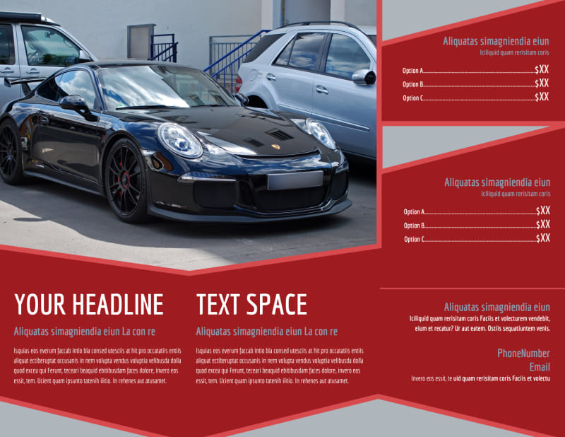 Used Car Dealer Brochure Template Preview 3