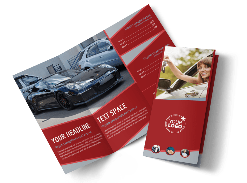 Used Car Dealer Brochure Template Preview 1