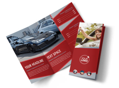 Used Car Dealer Tri-Fold Brochure Template preview
