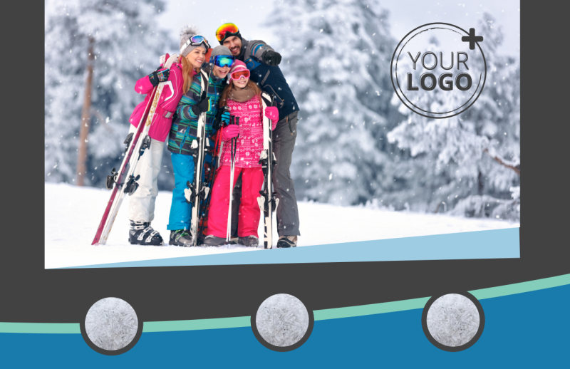 Ski Resort Postcard Template Preview 2