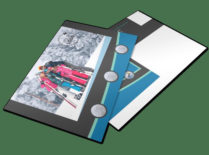 Ski Resort Postcard Template Preview 1