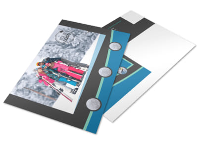 Ski Resort Postcard Template