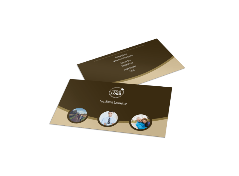 Retirement Advice Business Card Template Preview 1