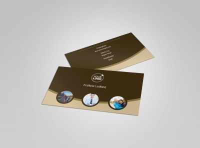 Retirement Advice Business Card Template preview