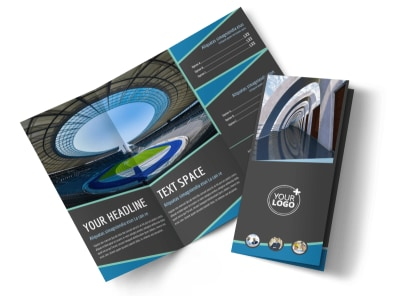 Architecture & Design Firm Tri-Fold Brochure Template preview