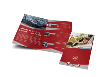 Used Car Dealer Bi-Fold Brochure Template preview
