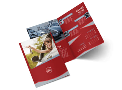 Used Car Dealer Bi-Fold Brochure Template 2