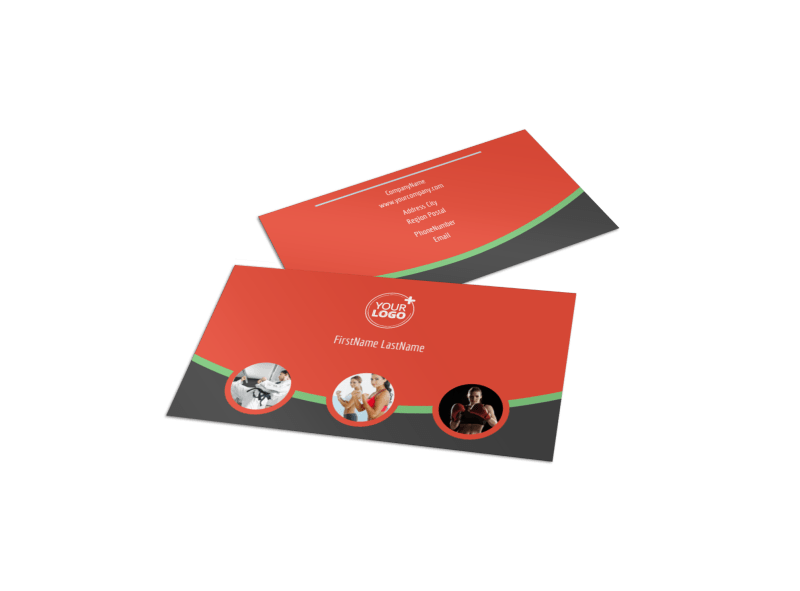 Self Defense Class Business Card Template Preview 1