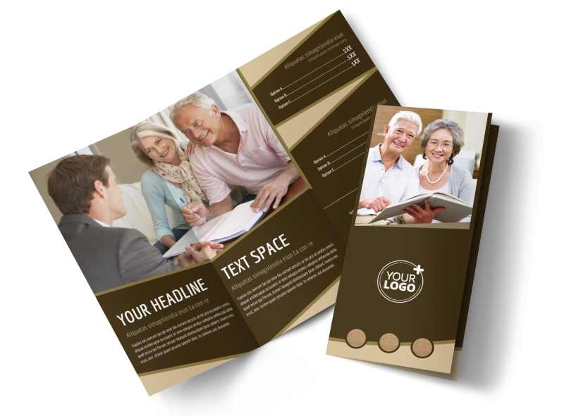 Retirement Advice Tri-Fold Brochure Template