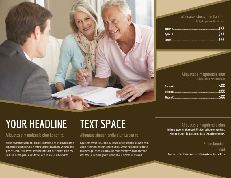 Retirement Advice Brochure Template Preview 3