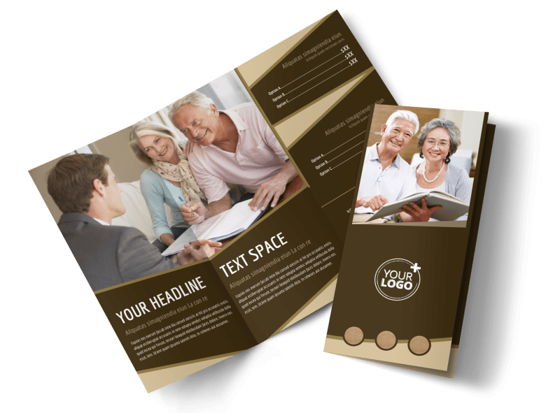 Retirement Advice Brochure Template Preview 1