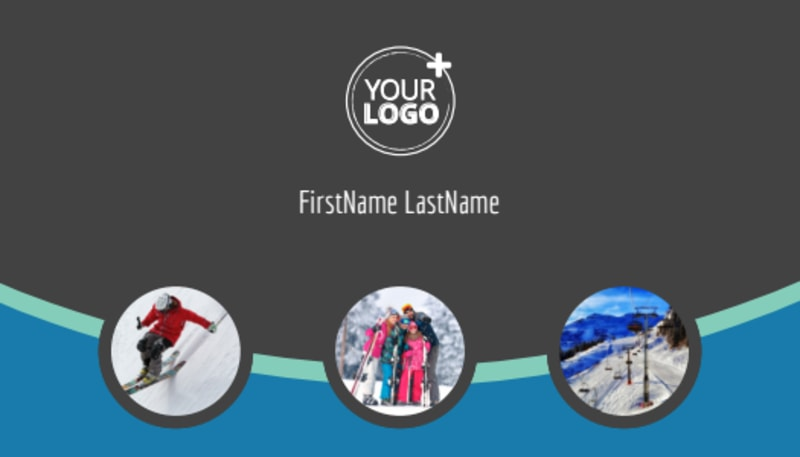 Ski Resort Business Card Template Preview 2