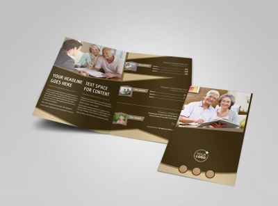 Retirement Advice Bi-Fold Brochure Template preview
