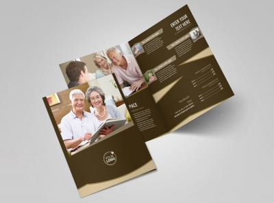 Retirement Advice Bi Fold Brochure Template 2