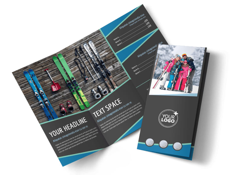 Ski Resort Tri-Fold Brochure Template