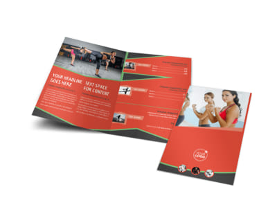 Self Defense Class Bi-Fold Brochure Template