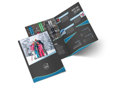 Ski Resort Bi-Fold Brochure Template 2