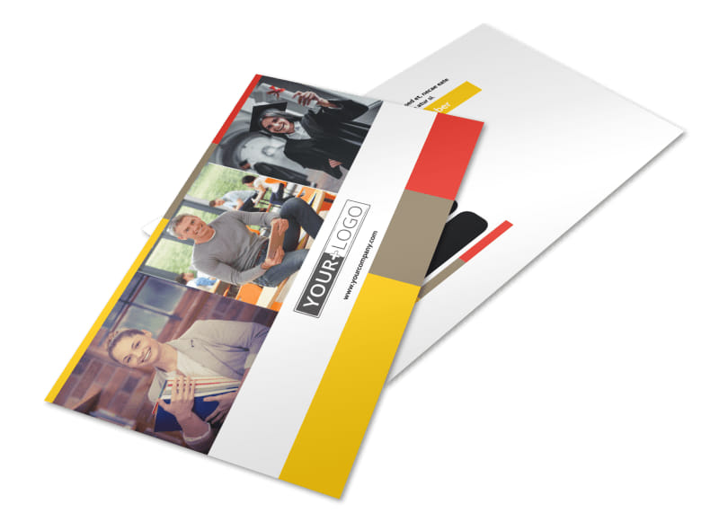 Adult Education Postcard Template 2