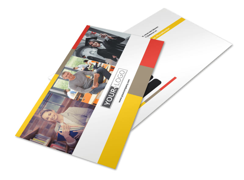 Adult Education Postcard Template Preview 4