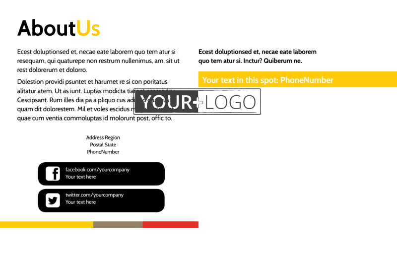 Adult Education Postcard Template Preview 3