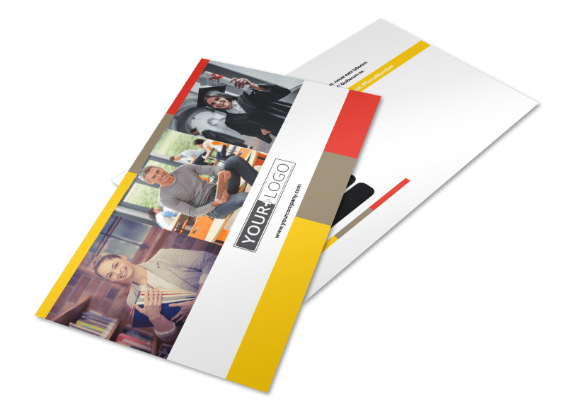 Adult Education Postcard Template Preview 1