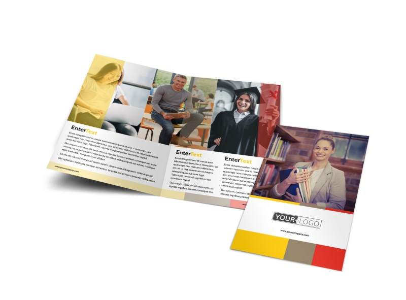 Adult Education Bi-Fold Brochure Template