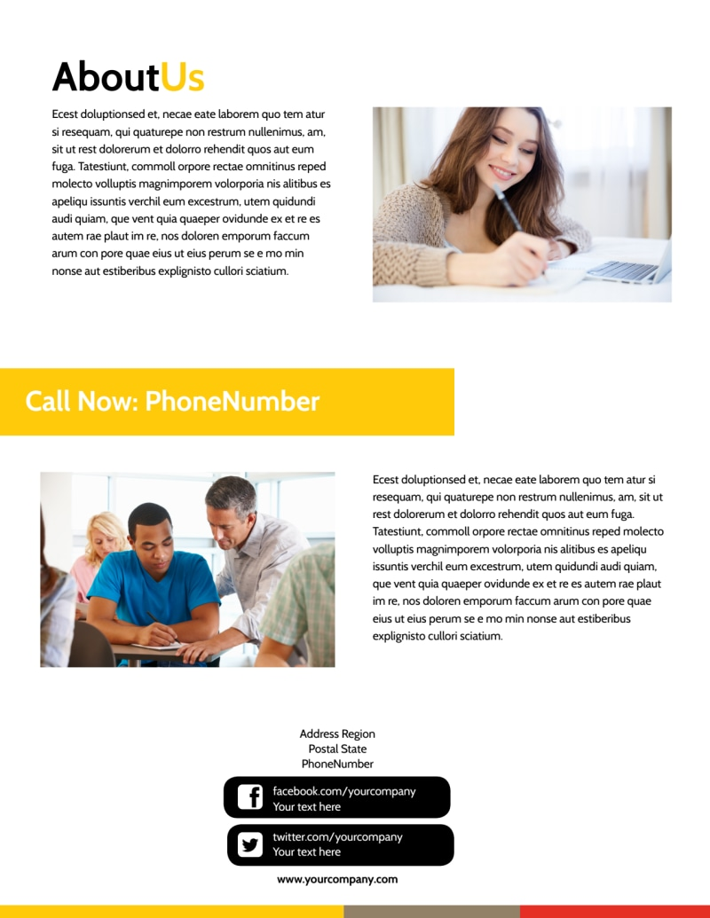 Adult Education Flyer Template Preview 3